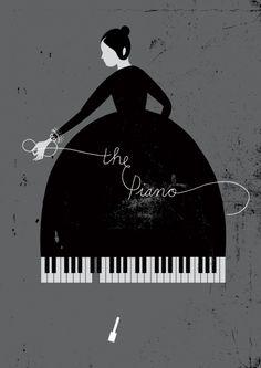 Inspiration | Minimal Piano Lady Poster By Karolin Schnoor