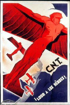 Cartel propaganda CNT Guerra Civil