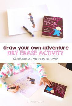 Harold and the Purple Crayon: A Dry Erase Activity ‹ Mama. Papa. Bubba.Mama. Papa. Bubba.