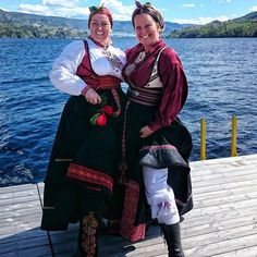 Girls in their folk costumes from Telemark in Norway celebrating may 17, Norways indepentenday.... ❤️ We love to not be to serious