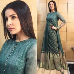 """Bollywood Ethnic Style Outfit """"STAR STUDDED Dress like your favorite celebrity in Urvashi's designs are global in…"""" Pakistani Dresses, Indian Dresses, Indian Outfits, Indian Designer Outfits, Designer Dresses, Designer Kurtis, Studded Dress, Indian Attire, Indian Wear"""