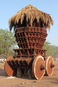 A chariot near Banashankari Amma temple, Badami.