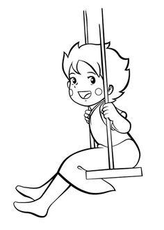 39 Disegni di Heidi da Colorare   PianetaBambini.it Cartoon Coloring Pages, Colouring Pages, Coloring Books, Drawing Cartoon Characters, Cartoon Drawings, Heidi Cartoon, Watercolor Pencil Art, Cartoon Quotes, Cool Anime Girl