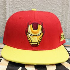 37000700c3a 2017 Iron Man hip pop hat anime red black cap COTTON girls boy baseball hat  CA272-in Baseball Caps from Men s Clothing   Accessories on Aliexpress.com  ...