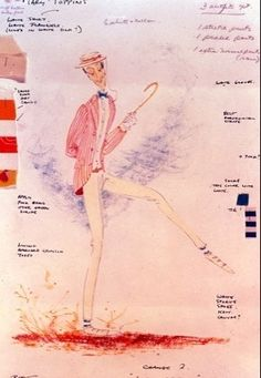Mary PoppinsConcept sketch for Bert's Jolly Holiday outfitCostume by Tony Walton