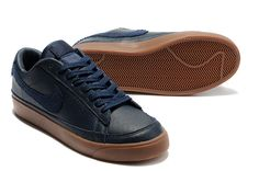 Mens Nike Blazer Low 09 ND Obsidian Navy Brown 371760 404 under $ 55.00