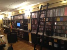 I want to have a music collection that necessitates a ladder