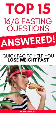 This intermittent fasting FAQ has been updated to answer 15 Intermittent Fasting questions for women and men who want to lose weight fast with intermittent fasting! Are you struggling to lose weight with fasting 12/12 or 16/8 or alternate day fasting, water fasting, crescendo fasting and more? This intermediate fasting FAQ will tell you ALL you need to know about weight loss intermittent fasting 10 pounds in a month or more!