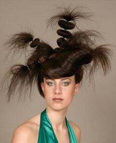 32 best unusual hairstyles images on Pinterest | Hair art, Hair down ...
