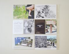 minimalist project life - love the image duo bottom left Photo Projects, Easy Projects, Diy Nursery Decor, Project Life Layouts, Baby Album, Diy Photo, Book Of Life, Life Inspiration, Road Trip