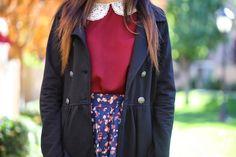 Coat. Peter Pan Collar. Skirt.