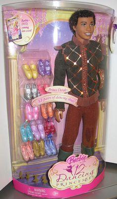 Barbie in The 12 Dancing Princesses Prince Derek Doll AA