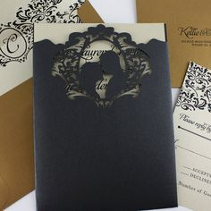 Silhouette Lasercut Invitation