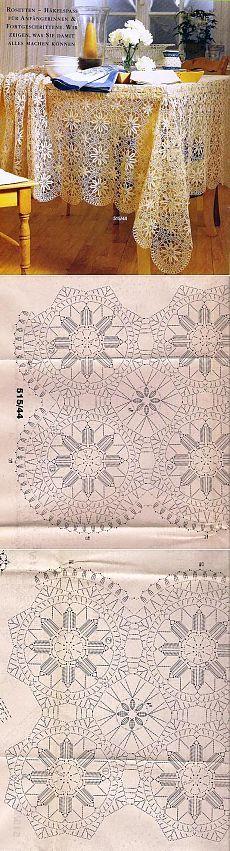 Crochet Motif Patterns, Crochet Chart, Filet Crochet, Irish Crochet, Crochet Designs, Crochet Bedspread, Crochet Tablecloth, Crochet Doilies, Crochet Flowers