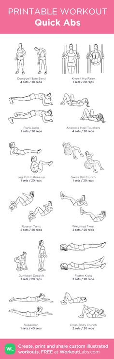 Tatiana's Quick Abs workout from @WorkoutLabs #workoutlabs #customworkout