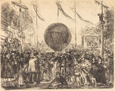 The Balloon 1862 Manet Lithograph in black on laid paper NGA DC