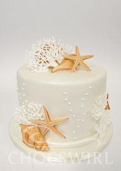 Beach Themed Cake - Chocswirl Cakes