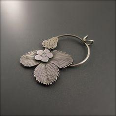 Silver Strawberry Lover Pendant
