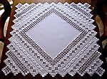 HARDANGER Embroidery - handmade DOILY in lightlilac in Crafts, Handcrafted & Finished Pieces, Needle Arts & Crafts | eBay