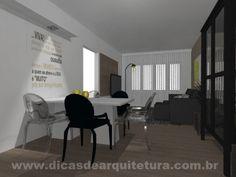 Sala comprida. http://dicasdearquitetura.com.br/sala-comprida-de-tv-e-jantar/