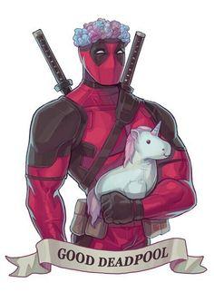 Imagem de deadpool, unicorn, and Marvel