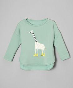 Leighton Alexander Green Giraffe Tee - Toddler & Kids | zulily