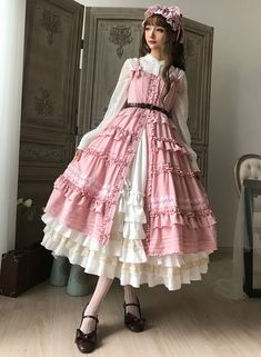 Little Dipper -Classic Mary- Vintage Classic Lolita Open Front Jumper Dress