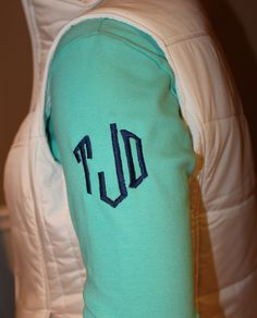 Monogrammed 3/4 Sleeve Shirt , $44.00 (http://www.shopmemento.com/monogrammed-3-4-sleeve-shirt/)