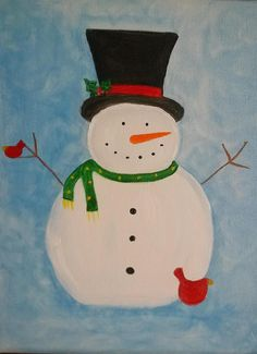 Bring your children and paint a fun snowman that they will be so proud of! Let Sue with My Art On Canvas teach them step by step how to create this fun whimsical snowman. Let them make a gift for G…