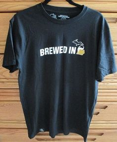 For sale in our Ebay store....  Brewed In Michigan Jolly Pumpkin Brewery Large Black Graphic Shirt High Five  #HighFiveThreads #ShortSleeve #beer #ale #Michigan #brewed #brewery #JollyPumpkin #pumpkin #TraverseCity
