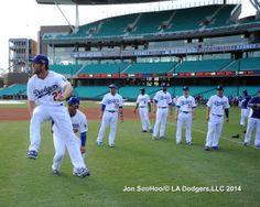 Kershaw 3/19/14 Los Angeles Dodgers Workout at Sydney Crickett Ground by Jon SooHoo