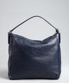 Furlacobalt Pebbled Leather Amazzone Zip Hobo Bluefly Up To 70 Off Designer
