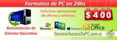 formateo windows reinstalacion sistema operativo. serviciotecnicodepc.com.ar