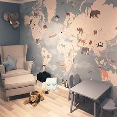 We just need to know the measure of your wall - kinderzimmer Boy Toddler Bedroom, Childrens Bedroom Decor, Toddler Rooms, Playroom Decor, Baby Bedroom, Baby Boy Rooms, Baby Room Decor, Girls Bedroom, Big Boy Bedrooms