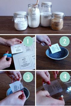 DIY labels for storage jars: Finally over the kitchen chaos (including Printable for free) - DIY Ideen - DIY Diy 2019, Jar Storage, Diy Kitchen, Kitchen Labels, Kitchen Storage, Kitchen Ideas, Kitchen Decor, Diy Organization, Free Printables