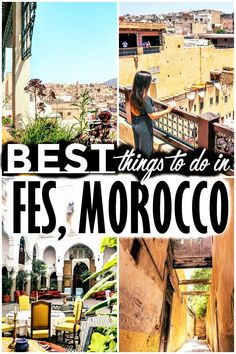 There are a lot of amazing things to do in Fes since it's the place where traditions and customs are preserved better than anywhere else in Morocco. Visit Morocco, Morocco Travel, Africa Travel, Cool Places To Visit, Places To Travel, Travel Destinations, Riads In Marrakech, Morocco Itinerary, Travel Guides