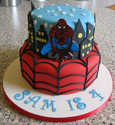 birthday parti, nathan birthday, cjs birthday, cake idea, cake spiderman, jason birthday, parti idea, spiderman cakes, cakes spiderman