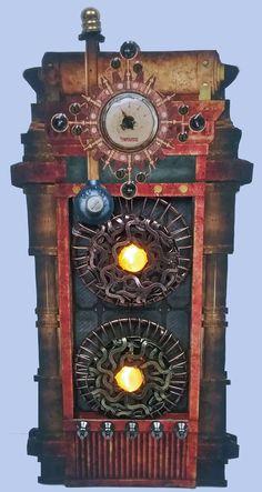Miniature Steampunk Plasma Machine Artfully Musing: HALLOWEEN VILLAGE MAD SCIENTIST LABORATORY – VIDEO TUTORIAL, NEW COLLAGE SHEET & DIGITAL IMAGE SETS