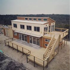 You can now buy a cost-effective farmhouse made from a shipping container Shipping Container Buildings, Cargo Container Homes, Shipping Container Home Designs, Building A Container Home, Storage Container Homes, Container House Design, Shipping Containers, Container Houses, Container Store