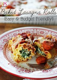 Baked Lasagna Rolls | Positively Splendid {Crafts, Sewing, Recipes and Home Decor}