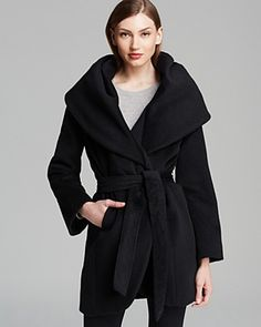 Elie Tahari Coat - Marla Wool Wrap