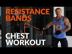 You can build a big chest without the gym, right in your own home. This is a complete muscle building workout, using only resistance bands, that you can do a. Killer Chest Workout, Chest Workout For Men, Chest Workout Routine, Resistance Band Training, Resistance Workout, Resistance Band Exercises, Gym Workout For Beginners, Gym Workout Tips, Workout Schedule