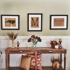 Entry way. State Picture, Monogram, Scripture. Love, love, love!