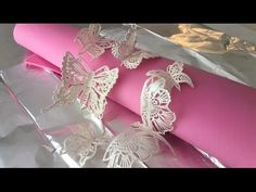 Making Cake Lace Butterflies With Claire Bowman - YouTube