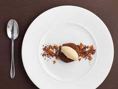 Chocolate torte with passion fruit