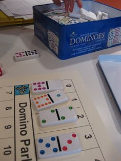 domino parking lot = dot counting and parking - teach mama