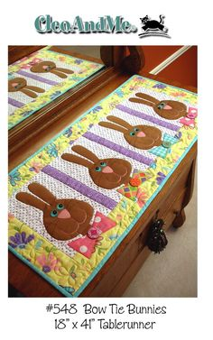 Bow tie bunnies. Several table runner patterns. $8.50