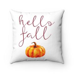Easy Fall decor idea: Fall Throw Pillows! This Hello Fall pillow cover is the perfect Fall decor on a budget that's also easy as can be! It is the perfect way to decorate your porch and entryway for Fall, as well as any other space in your home such as the living room and bedroom. This fall pillow looks great with any home decor style from rustic or modern farmhouse, modern minimalist and even boho. Shop this and more perfect Fall Decor at Pine Flat Decor! Fall Pillows, Throw Pillows, Front Porch Seating, Modern Farmhouse Living Room Decor, Pillow Room, Hello Autumn, Porch Decorating, Fall Decor, Pillow Covers