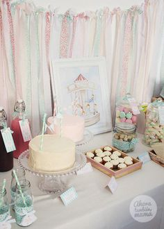 Vintage Carousel themed birthday party