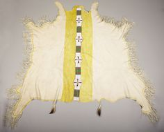 A UTE BEADED HIDE BLANKET STRIP. c. 1900. ... American Indian   Lot #77049   Heritage Auctions